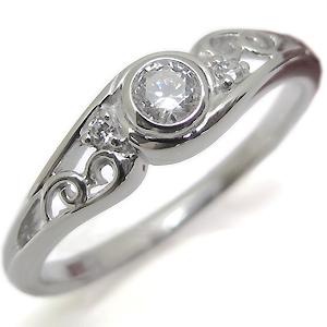 アウトレット☆送料無料 送料無料 4月誕生石 ダイアモンドエンゲージリング アンティーク 婚約指輪 ダイヤモンドリング エンゲージリング 18金 2020モデル ダイアモンド 一粒