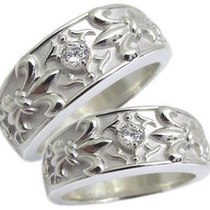 ペアリング・シルバー・リング・ダイヤモンド・クロス・リング・指輪