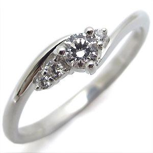 ダイヤモンド・エンゲージリング・一粒・シンプル・K18・婚約指輪