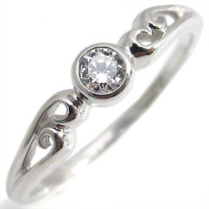 9/11 1:59迄ダイヤモンド・リング・K10・一粒・シンプル・10金・指輪
