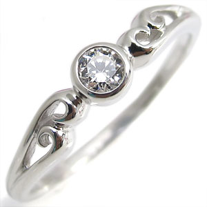 【10%OFF】4日20時~ 指輪・18金・シンプル・リング・ダイヤモンド・一粒・K18・ダイアモンドリング