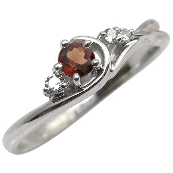 ガーネット・リング・K10・一粒・10金・指輪