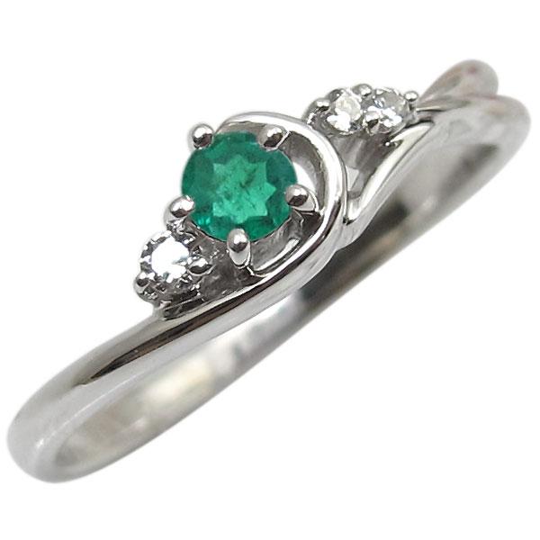 エメラルド・リング・K10・一粒・10金・指輪