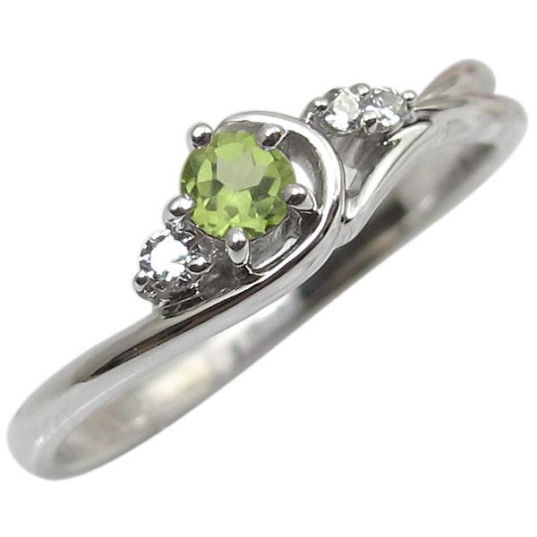 ペリドット・リング・K10・一粒・10金・指輪