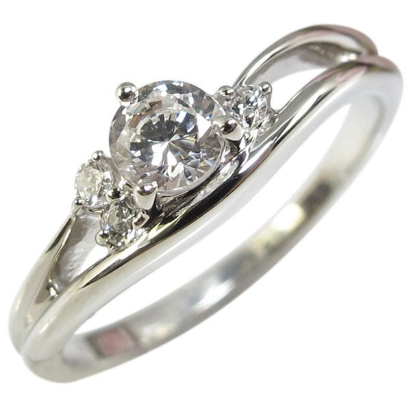 K10・ダイヤモンド・婚約指輪・シンプル・一粒・ダイアモンドエンゲージリング