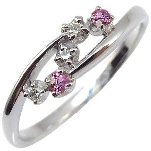 ピンクサファイア・リング・一粒・k18・サファイア・指輪