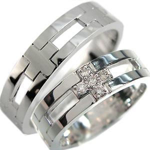 8/25限定【ポイント5倍】クロス・ペアリング・プラチナ・ダイヤモンド・ピンキーリング・結婚指輪
