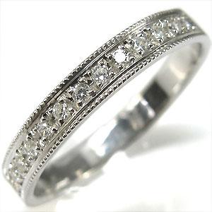 【10%OFF】4日20時~ ハーフエタニティリング・K18ゴールド・結婚指輪・マリッジリング・ダイヤモンド
