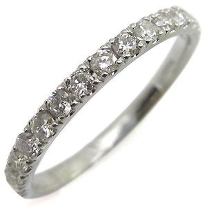 9日1:59迄 ハーフエタニティ・リング・ダイヤモンド・K18・リング・ダイヤ・指輪