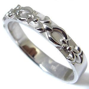 天然ダイヤモンド ペアリング K10ゴールド 結婚指輪 百合の紋章 マリッジリングkXw8nOP0