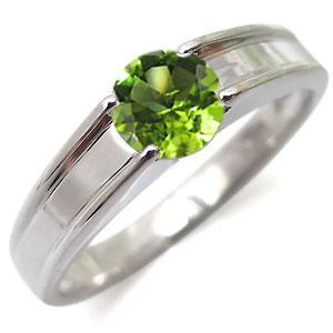 ペリドット・リング・一粒・k10・ペリドットリング・指輪