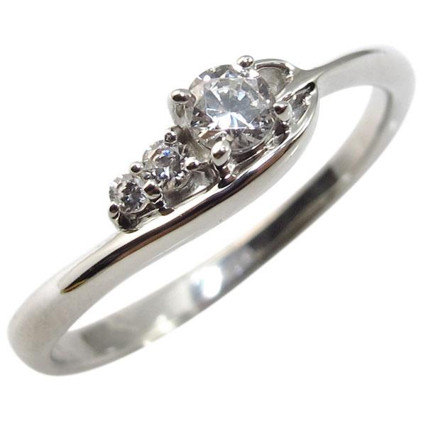 指輪・K10・一粒・シンプル・ダイヤモンド・リング