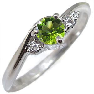 指輪・ペリドット・リング・一粒・10金・ペリドットリング