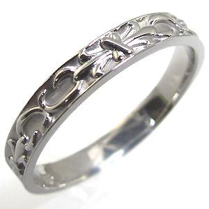【10%OFFクーポン】5日23:59迄 K18・リング・ユリの紋章・18金・指輪