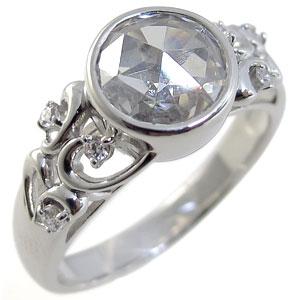 キュービックジルコニアリング・K10・大粒・指輪・アンティーク・リング