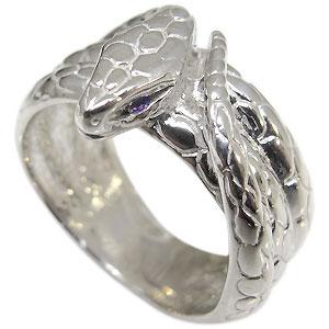 スネーク・リング・アメジスト・ヘビ・蛇・指輪