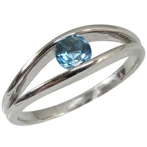 【10%OFFクーポン】5日23:59迄 18金・一粒・指輪・11月誕生石・ブルートパーズ・リング