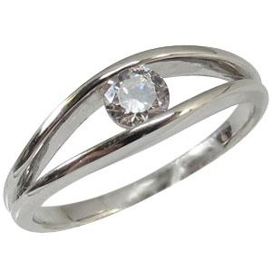 ダイヤモンド・リング・10金・一粒・指輪・4月誕生石・K10
