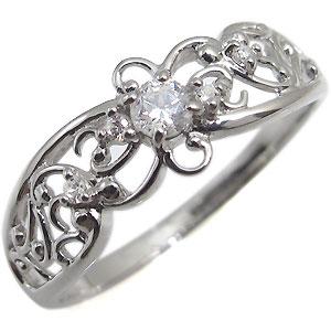 【10%OFF】4日20時~ ダイヤモンド・リング・一粒・K10・指輪