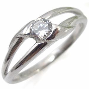 鑑定書付き・ダイヤモンド・エンゲージリング・婚約指輪・18金