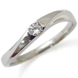 一粒・18金・指輪・ダイヤモンド・リング