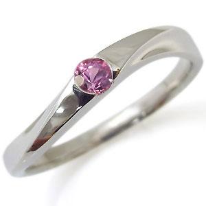 ピンクサファイア・リング・一粒・10金・指輪