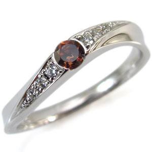 プラチナ ガーネット リング 指輪 1月誕生石