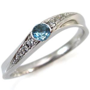 11月誕生石・K10・ブルートパーズ・リング・指輪