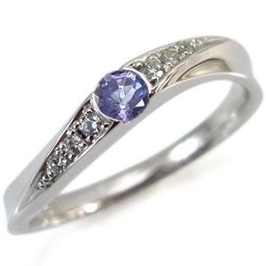 12月誕生石・K10・タンザナイト・リング・指輪