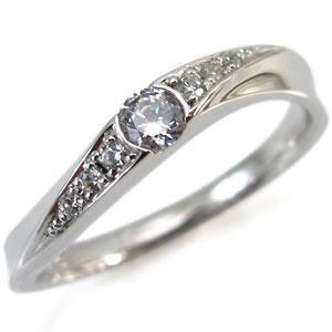 プラチナ ダイヤモンド リング 指輪 4月誕生石