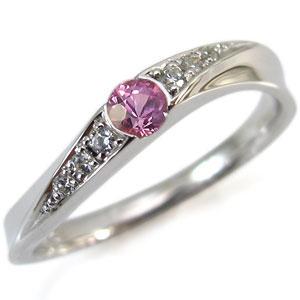 9月誕生石・K10・ピンクサファイア・リング・指輪