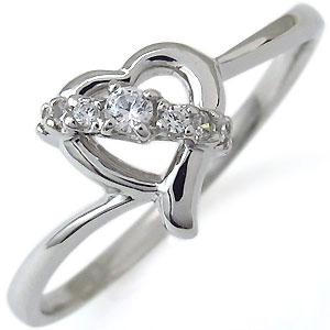ダイヤモンド・ハートモチーフ・リング・一粒・K10・指輪