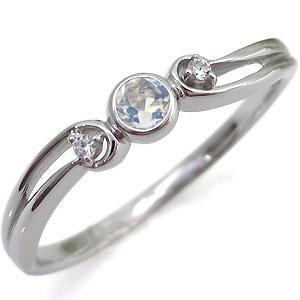 ロイヤルブルームーンストーン・シンプル・リング・一粒・K18・指輪