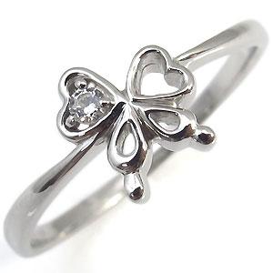 ダイヤモンド・リング・リボン・10金・指輪・一粒・リング・蝶