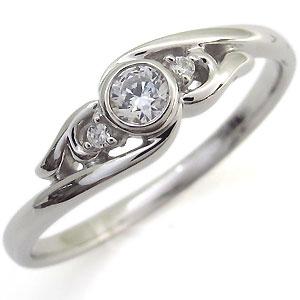 指輪・ダイヤモンド・リング・一粒・K18