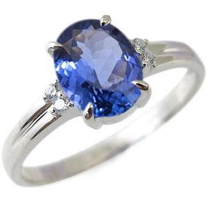 プラチナ・指輪・リング・大粒・タンザナイト・一粒・12月誕生石