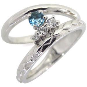 指輪・ピンキーリング・K18・ブルートパーズ・リング・一粒