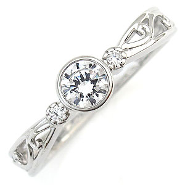 【10%OFFクーポン】5日23:59迄 鑑定書付き・婚約指輪・エンゲージリング・ダイヤモンド・リング・指輪・一粒・0.3ct・18金