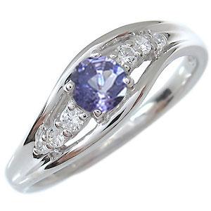 一粒・タンザナイト・リング・18金・指輪・12月誕生石