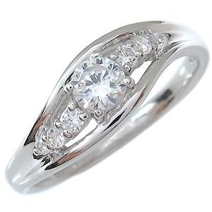 一粒・ダイヤモンド・リング・18金・指輪・0.3ct・4月誕生石・0.3カラット