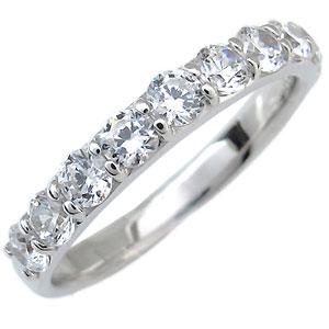 【10%OFFクーポン】5日23:59迄 K10・ダイヤモンド・ハーフエタニティリング(1.0ct)ダイヤモンドリング