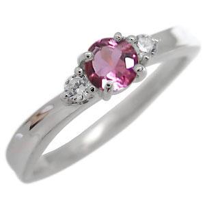 ピンクトルマリン・リング・一粒・リング・10月誕生石・10金・指輪