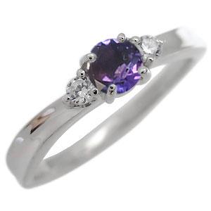 アメジスト・リング・一粒・リング・2月誕生石・10金・指輪