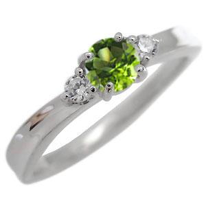ペリドット・リング・一粒・リング・8月誕生石・10金・指輪