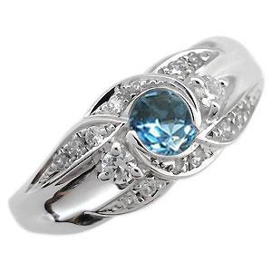 指輪・一粒・ブルートパーズ・リング・11月誕生石・18金・リング