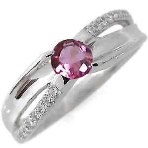 ピンクトルマリン・リング・10月誕生石・指輪・一粒・10金