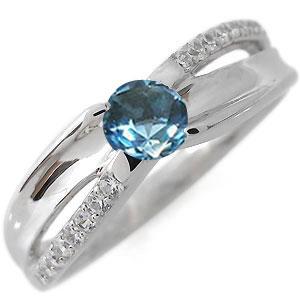 ブルートパーズ・リング・11月誕生石・指輪・一粒・10金