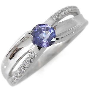 タンザナイト エンゲージリング 12月誕生石 婚約指輪 一粒 10金