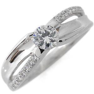 【10%OFFクーポン】5日23:59迄 プラチナ・リング・指輪・一粒・ダイヤモンド・4月誕生石