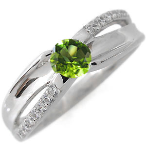 1日限定【10%OFFクーポン&P2倍】 指輪・8月誕生石・一粒・ペリドット・リング・18金